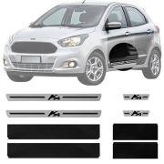 Soleira Resinada Premium Ford Ka 2014 15 16 17 18 19 8 Peças