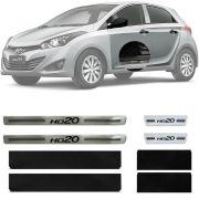 Soleira Resinada Premium Hyundai Hb20 2012 13 14 15 16 17 18 19 8 Peças
