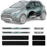 Soleira Resinada Premium Hyundai Hb20x 2013 14 15 16 17 18 19 8 Peças