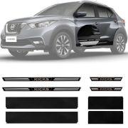 Soleira Resinada Premium Nissan Kicks 2016 17 18 19 20 21 8 Peças