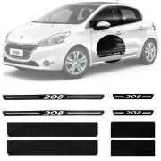 Soleira Resinada Premium Peugeot 208 2013 14 15 16 17 18 8 Peças