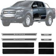 Soleira Resinada Premium Ranger 2012 13 14 15 16 17 18 8 Peças
