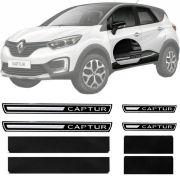 Soleira Resinada Premium Renault Captur 2017 18 19 8 Peças