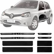 Soleira Resinada Premium Renault Clio 2013 14 15 16 8 peças