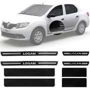 Soleira Resinada Premium Renault Logan 2014 15 16 17 18 19 8 Peças