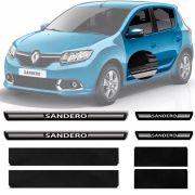 Soleira Resinada Premium Renault Sandero 2007 08 09 10 11 12 13 14 15 16 17 18 19 8 Peças