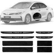 Soleira Resinada Premium Toyota Corolla 2014 15 16 17 18 19 8 Peças