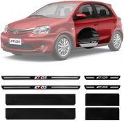 Soleira Resinada Premium Toyota Etios 2013 14 15 16 17 18 19 8 Peças