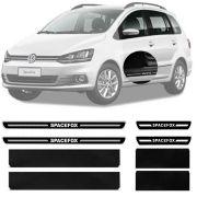 Soleira Resinada Premium Volkswagen Spacefox 2007 08 09 10 11 12 13 14 8 Peças