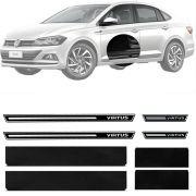 Soleira Resinada Premium Volkswagen Virtus 2018 19 8 Peças