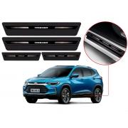 Soleira Sofisticar Resinada Blackout Chevrolet Tracker 2020 21 Em Diante 8 Peças