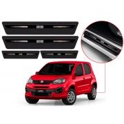Soleira Sofisticar Resinada Com Blackout Fiat Uno 2012 13 14 15 16 17 18 19 20 21 8 Peças