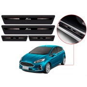 Soleira Sofisticar Resinada Com Blackout Ford New Fiesta Hatch Sedan 2011 12 13 14 15 16 17 18 19 8 Peças