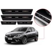 Soleira Sofisticar Resinada Com Blackout Renault Logan 2014 15 16 17 18 19 20 21 22 8 Peças