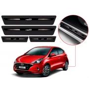 Soleira Sofisticar Resinada Com Blackout Hyundai Hb20 2012 13 14 15 16 17 18 19 20 8 Peças
