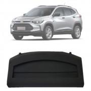 Tampão Porta Malas Chevrolet Tracker 2020 21 Com Revestimento de Carpete e Hastes de Fixação