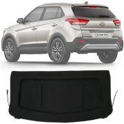 Tampão Porta Malas Hyundai Creta 2016 17 18 19 Com Revestimento de Carpete e Hastes de Fixação