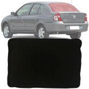 Tapete Bandeja Universal Série 3 Porta Malas Com Borda Elevada de 3,5cm Renault Clio Sedan 2001 Até 2012