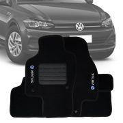 Tapete Carpete Tevic Pinado Lavável Volkswagen Virtus 2019