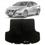 Tapete Carpete Porta Malas Bordado Nissan Versa 2021 Em Diante