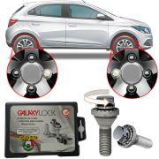 Trava Antifurto Anti Roubo de Roda Parafuso Porca Farad Galaxylock Chevrolet Onix 2013 à 2019 Com Mais de 10.000 Segredos H/M
