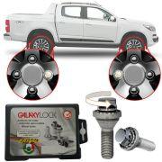 Trava Antifurto Anti Roubo de Roda Parafuso Porca Farad Galaxylock Chevrolet S-10 S10 Com Mais de 10.000 Segredos H/M