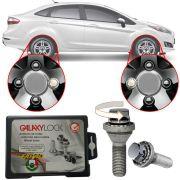 Trava Antifurto Anti Roubo de Roda Parafuso Porca Farad Galaxylock Ford Fiesta Sedan New 2011 à 2017 Com Mais de 10.000 Segredos HA/M
