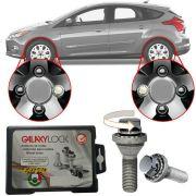 Trava Antifurto Anti Roubo de Roda Parafuso Porca Farad Galaxylock Ford Focus Com Mais de 10.000 Segredos HA/M