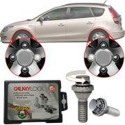 Trava Antifurto Anti Roubo de Roda Parafuso Porca Farad Galaxylock Hyundai I30 CW 2007 à 2013 Com Mais de 10.000 Segredos H1/M