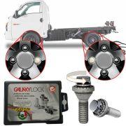 Trava Antifurto Anti Roubo de Roda Parafuso Porca Farad Galaxylock Hyundai HR 2003 à 2019 Com Mais de 10.000 Segredos