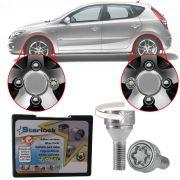 Trava Antifurto Anti Roubo de Roda Parafuso Porca Farad Galaxylock Hyundai I30 2007 à 2013 Com Mais de 10.000 Segredos H1/M