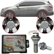 Trava Antifurto Anti Roubo de Roda Parafuso Porca Farad Galaxylock Hyundai Vera cruz 2007 à 2012 Com Mais de 10.000 Segredos H1/M