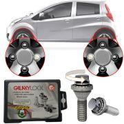 Trava Antifurto Anti Roubo de Roda Parafuso Porca Farad Galaxylock Jac J2 2012 14 15 16 Com Mais de 10.000 Segredos