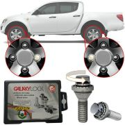 Trava Antifurto Anti Roubo de Roda Parafuso Porca Farad Galaxylock Mitsubishi L200 Triton GLX Com Mais de 10.000 Segredos 482/M