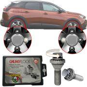 Trava Antifurto Anti Roubo de Roda Parafuso Porca Farad Galaxylock Peugeot 3008 2011 à 2019 Com Mais de 10.000 Segredos BE8/M