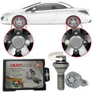 Trava Antifurto Anti Roubo de Roda Parafuso Porca Farad Galaxylock Peugeot 308 CC Coupé 2012 13 14 15 Com Mais de 10.000 Segredos BE8/M