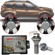 Trava Antifurto Anti Roubo de Roda Parafuso Porca Farad Galaxylock Renault Duster 2012 à 2019 Com Mais de 10.000 Segredos I/M