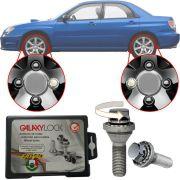 Trava Antifurto Anti Roubo de Roda Parafuso Porca Farad Galaxylock Subaru Impreza WRX Com Mais de 10.000 Segredos R/M