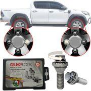 Trava Antifurto Anti Roubo de Roda Parafuso Porca Farad Galaxylock Toyota Hilux Com Mais de 10.000 Segredos 382/M