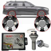 Trava Antifurto Anti Roubo de Roda Parafuso Porca Farad Galaxylock Volvo XC90 2003 à 2019 Com Mais de 10.000 Segredos W3/M