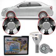 Trava Antifurto Anti Roubo de Roda Parafuso Porca Farad Starlock Chevrolet Cobalt 2012 à 2019 Com Mais de 10.000 Segredos H/E