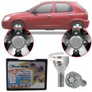 Trava Antifurto Anti Roubo de Roda Parafuso Porca Farad Starlock Chevrolet Prisma 2004 à 2012 Com Mais de 10.000 Segredos I3/E
