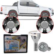 Trava Antifurto Anti Roubo de Roda Parafuso Porca Farad Starlock Chevrolet S-10 S10 Com Mais de 10.000 Segredos H/E
