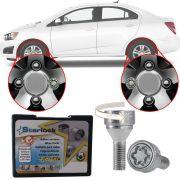 Trava Antifurto Anti Roubo de Roda Parafuso Porca Farad Starlock Chevrolet Sonic 2012 13 14 Com Mais de 10.000 Segredos H/E