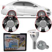 Trava Antifurto Anti Roubo de Roda Parafuso Porca Farad Starlock Chevrolet Sonic Sedan 2012 13 14 Com Mais de 10.000 Segredos H/E