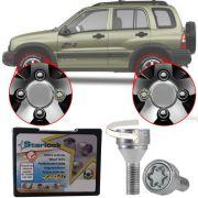 Trava Antifurto Anti Roubo de Roda Parafuso Porca Farad Starlock Chevrolet Tracker 2001 à 2012 Com Mais de 10.000 Segredos R/E