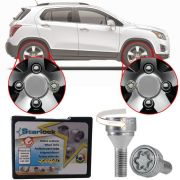 Trava Antifurto Anti Roubo de Roda Parafuso Porca Farad Starlock Chevrolet Tracker 2014 em Diante Com Mais de 10.000 Segredos H/E