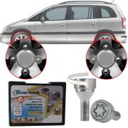 Trava Antifurto Anti Roubo de Roda Parafuso Porca Farad Starlock Chevrolet Zafira 2001 à 2012 Com Mais de 10.000 Segredos I3/E