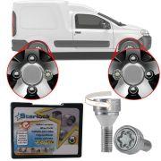 Trava Antifurto Anti Roubo de Roda Parafuso Porca Farad Starlock Fiat Fiorino 2005 em Diante Com Mais de 10.000 Segredos A2C/E