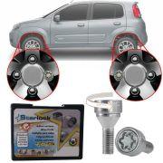 Trava Antifurto Anti Roubo de Roda Parafuso Porca Farad Starlock Fiat Novo Uno 2012 em Diante Com Mais de 10.000 Segredos A2C/E